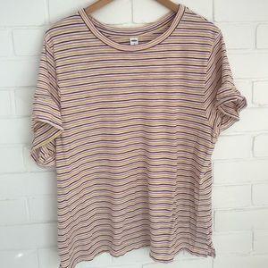 Old Navy Ruffle Stripe T-Shirt